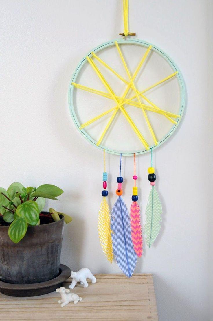Best ideas about DIY Art And Craft For Kids . Save or Pin Idées bricolage enfant ment fabriquer un attrape rêve Now.