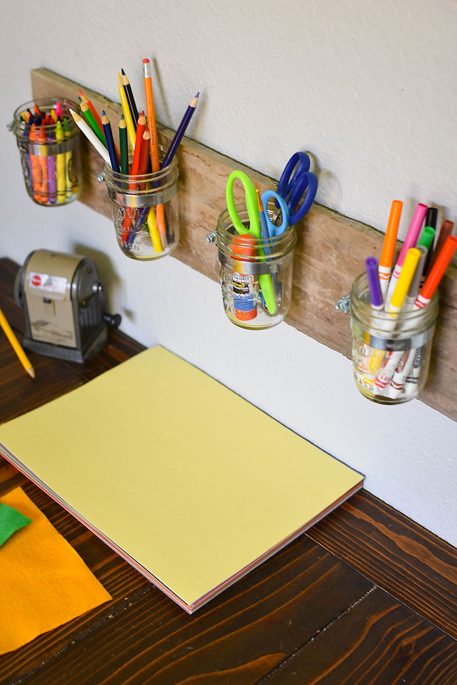 Best ideas about DIY Art Supply Organizer . Save or Pin DIY Mason Jar Art Supply Organizer for Kids Our Now.