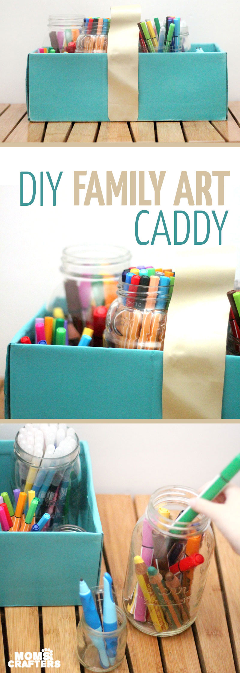 Best ideas about DIY Art Supply Organizer . Save or Pin DIY Marker Storage Caddy a Portable Family Art Station Now.