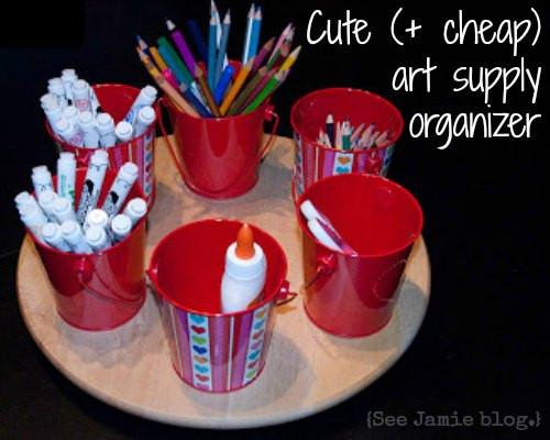 Best ideas about DIY Art Supply Organizer . Save or Pin Cute & Cheap Art Supply Organizer Now.