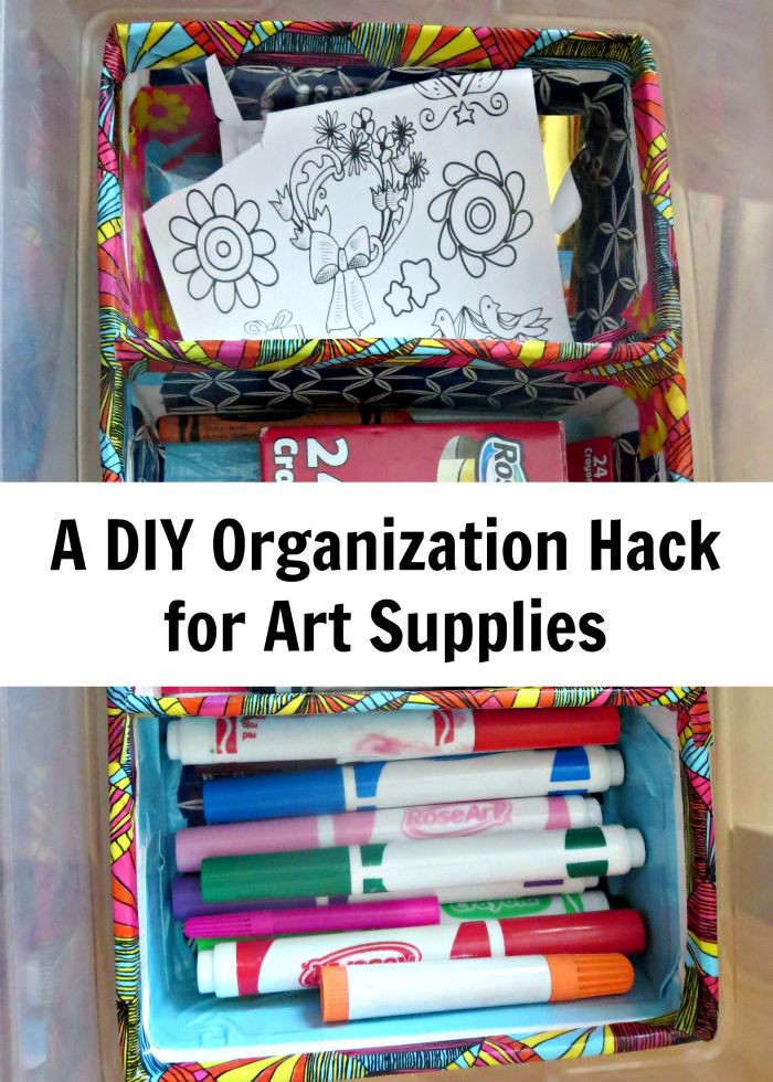 Best ideas about DIY Art Supply Organizer . Save or Pin A DIY Hack Organizing Art Supplies Planet Smarty Pants Now.
