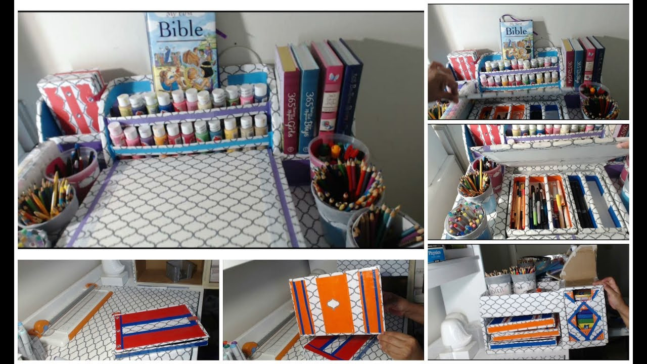 Best ideas about DIY Art Supply Organizer . Save or Pin DIY Markers Organizer Back To School CARDBOARD IDEAS Now.