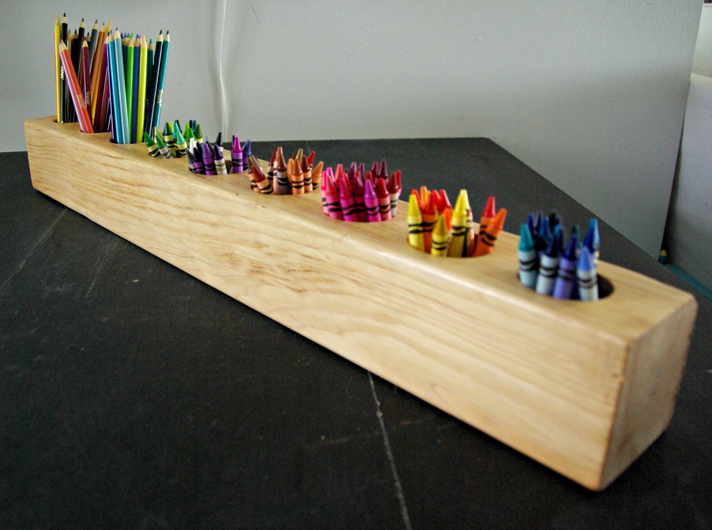 Best ideas about DIY Art Supply Organizer . Save or Pin How to make a 4x4 wood and rustic art supply organizer Now.