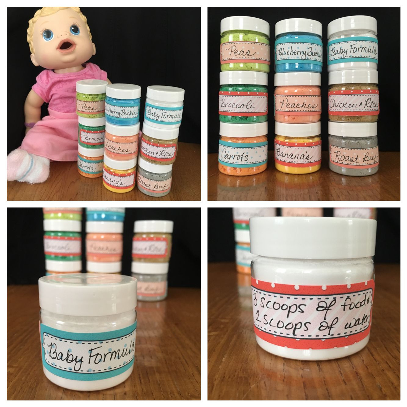 Best ideas about DIY Baby Alive Food . Save or Pin Homemade Baby Alive baby food made with Dollar store items Now.