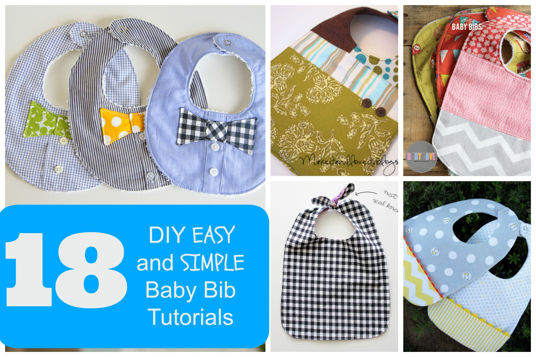 Best ideas about DIY Baby Bibs . Save or Pin 18 Simple Baby Bib Tutorials Now.