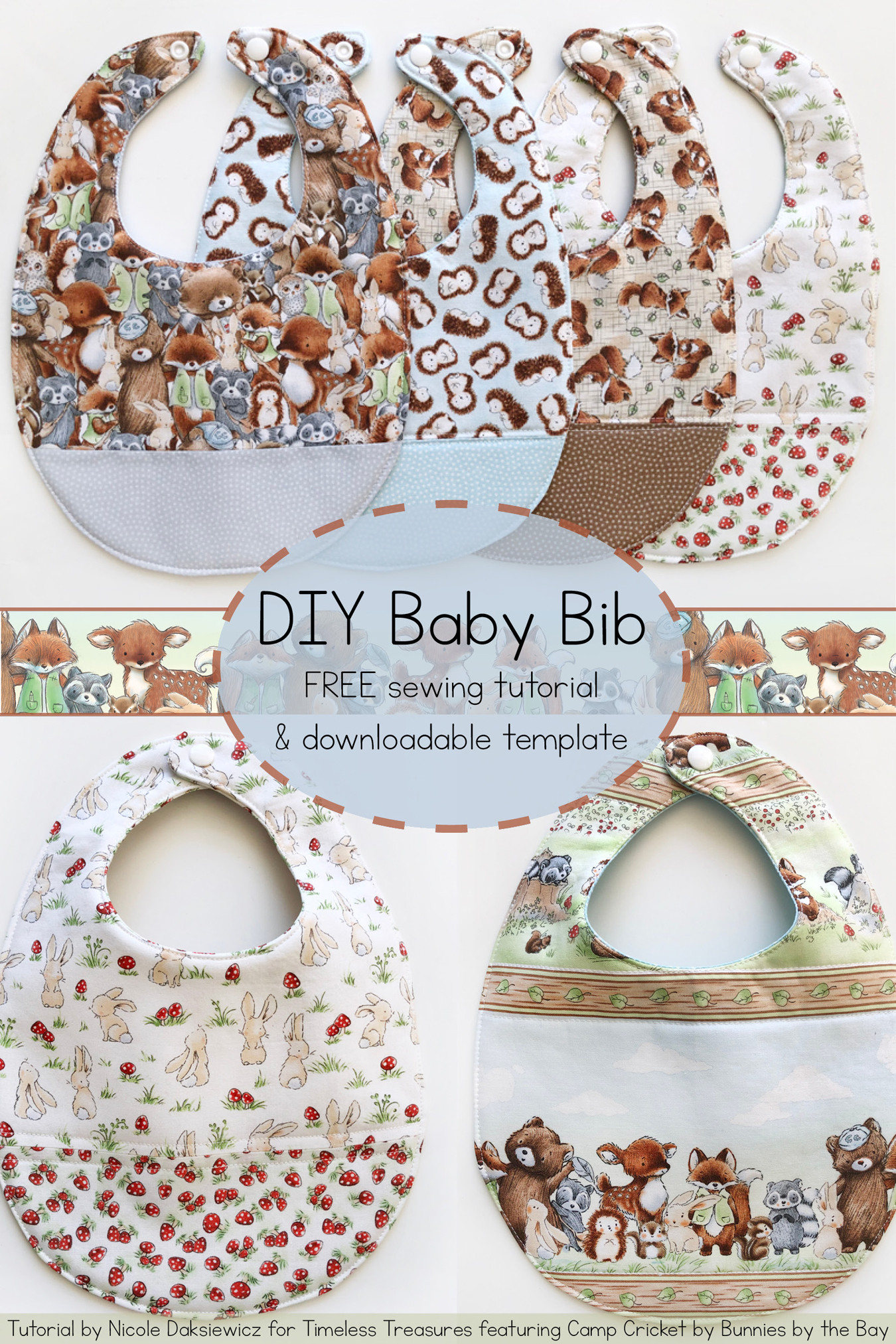 Best ideas about DIY Baby Bibs . Save or Pin Timeless Treasures Now.