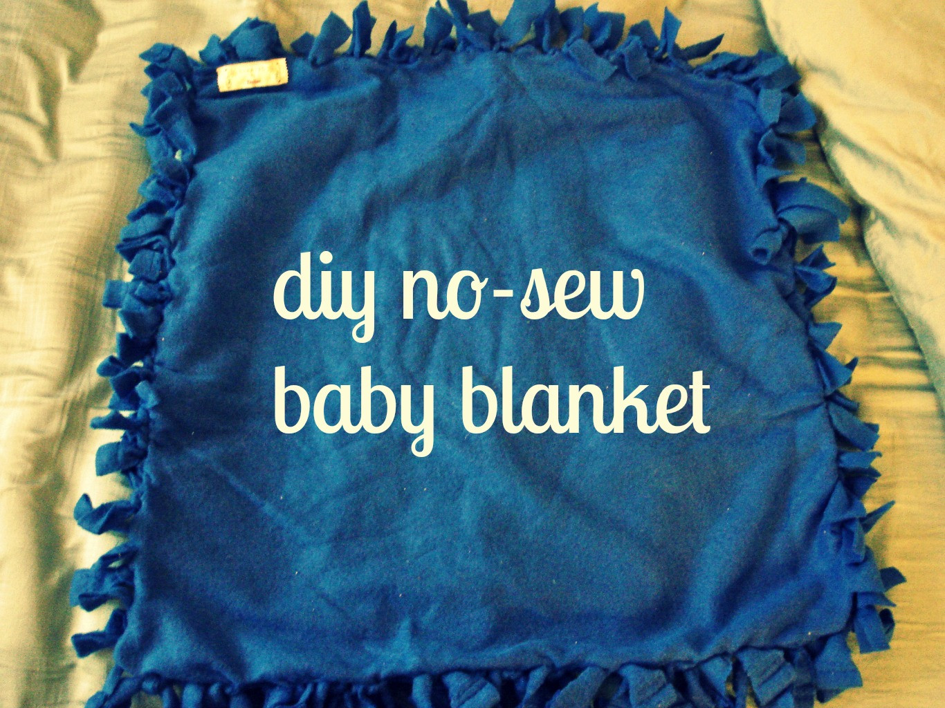 Best ideas about DIY Baby Blanket . Save or Pin diy no sew baby blanket Now.
