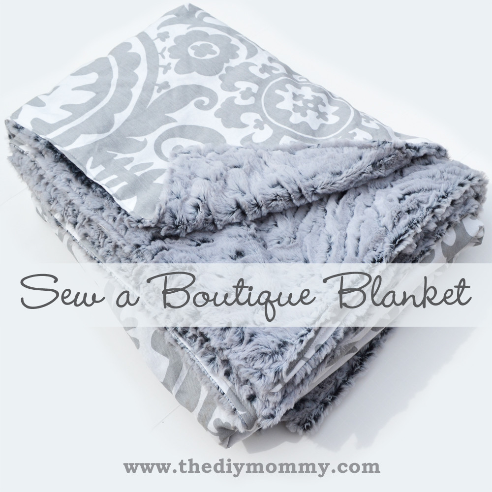 Best ideas about DIY Baby Blanket . Save or Pin How to sew a blanket from minkee minky and cotton fabric Now.
