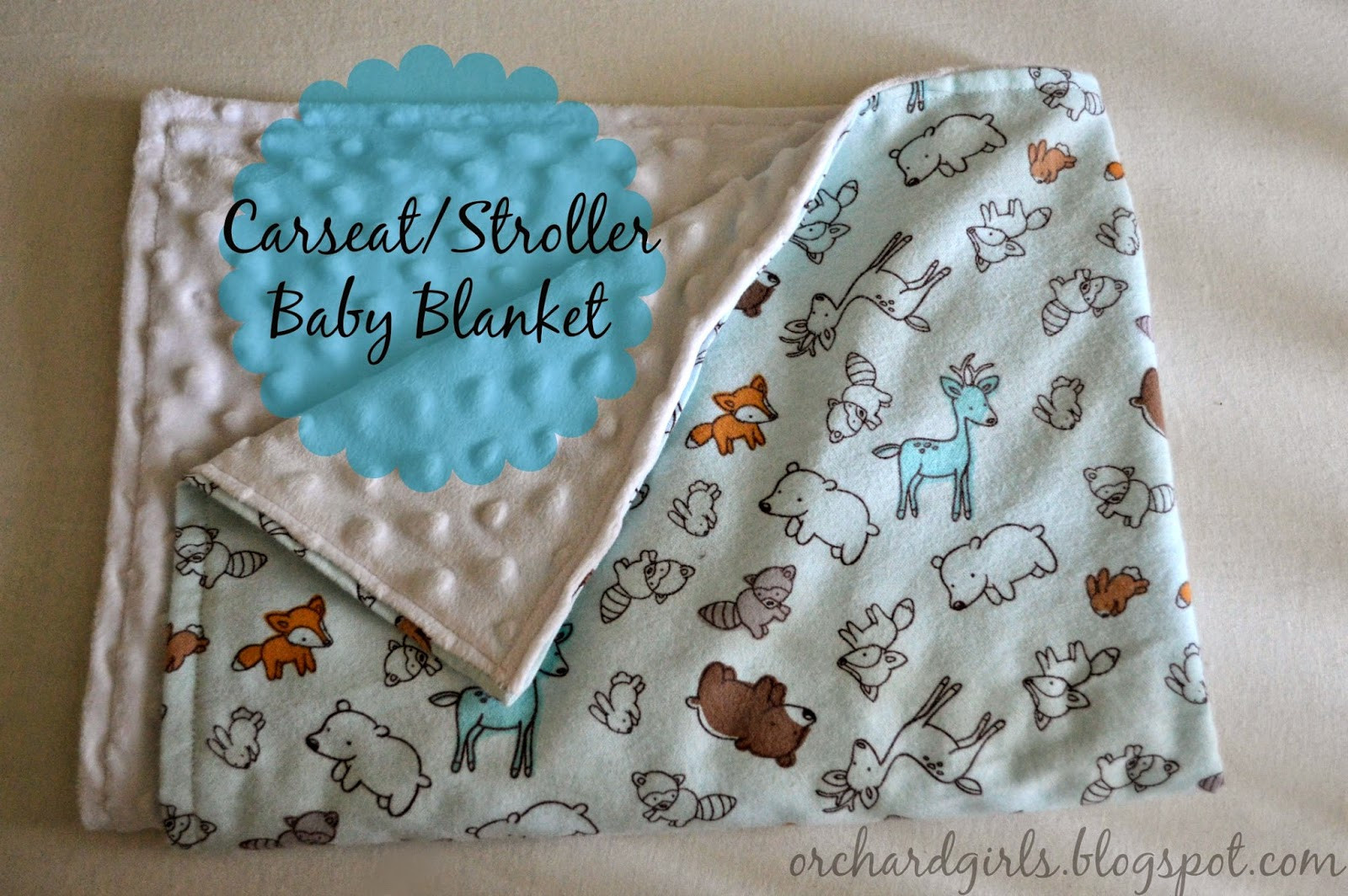 Best ideas about DIY Baby Blanket . Save or Pin Orchard Girls Super easy DIY Baby Blanket Tutorial with Now.