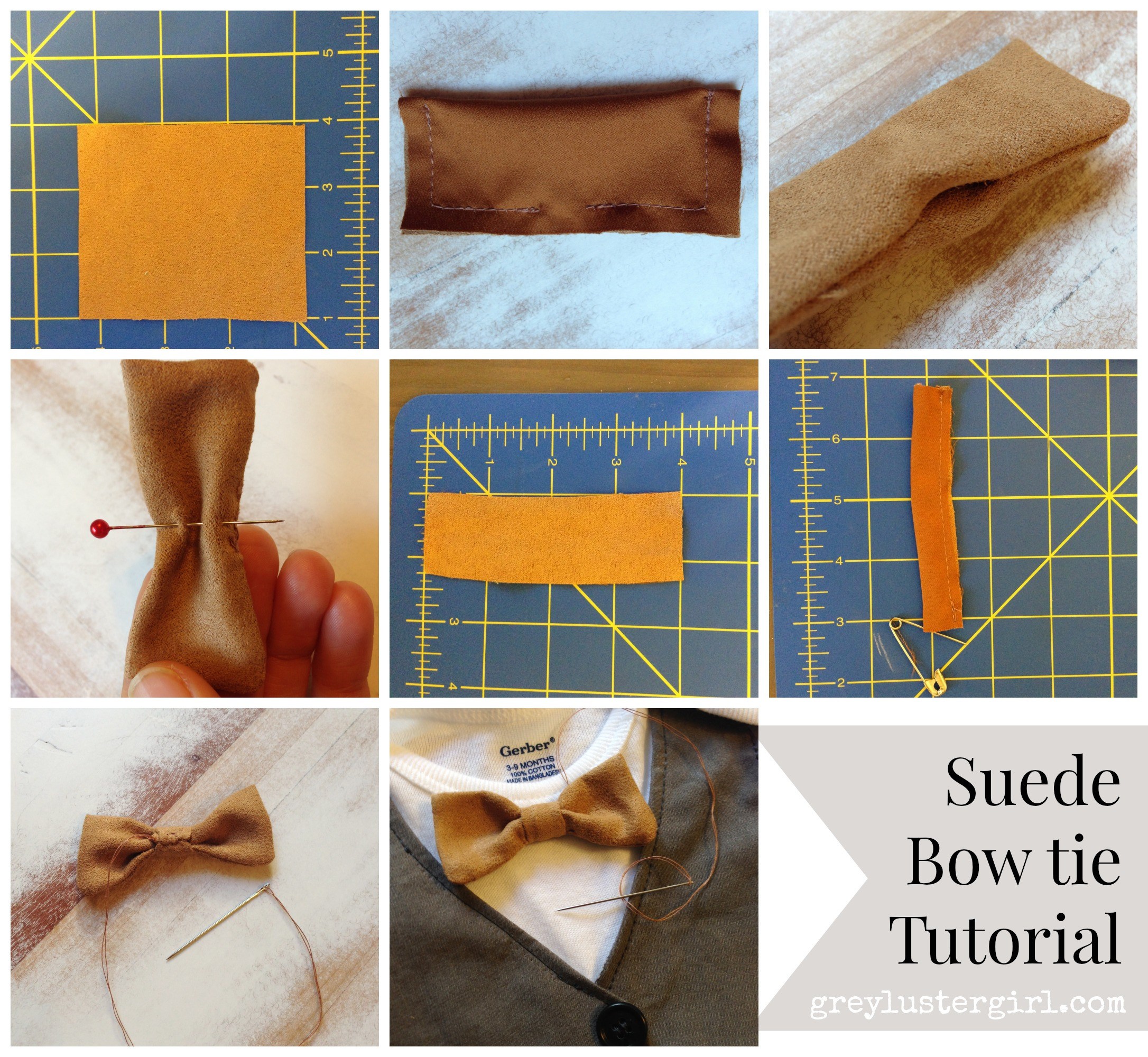 Best ideas about DIY Baby Bow Tie . Save or Pin DIY Baby Boy Faux Vest esie Now.