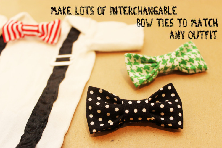 Best ideas about DIY Baby Bow Tie . Save or Pin DIY esie The Perfect Shower DIY How to Make a Tie Now.