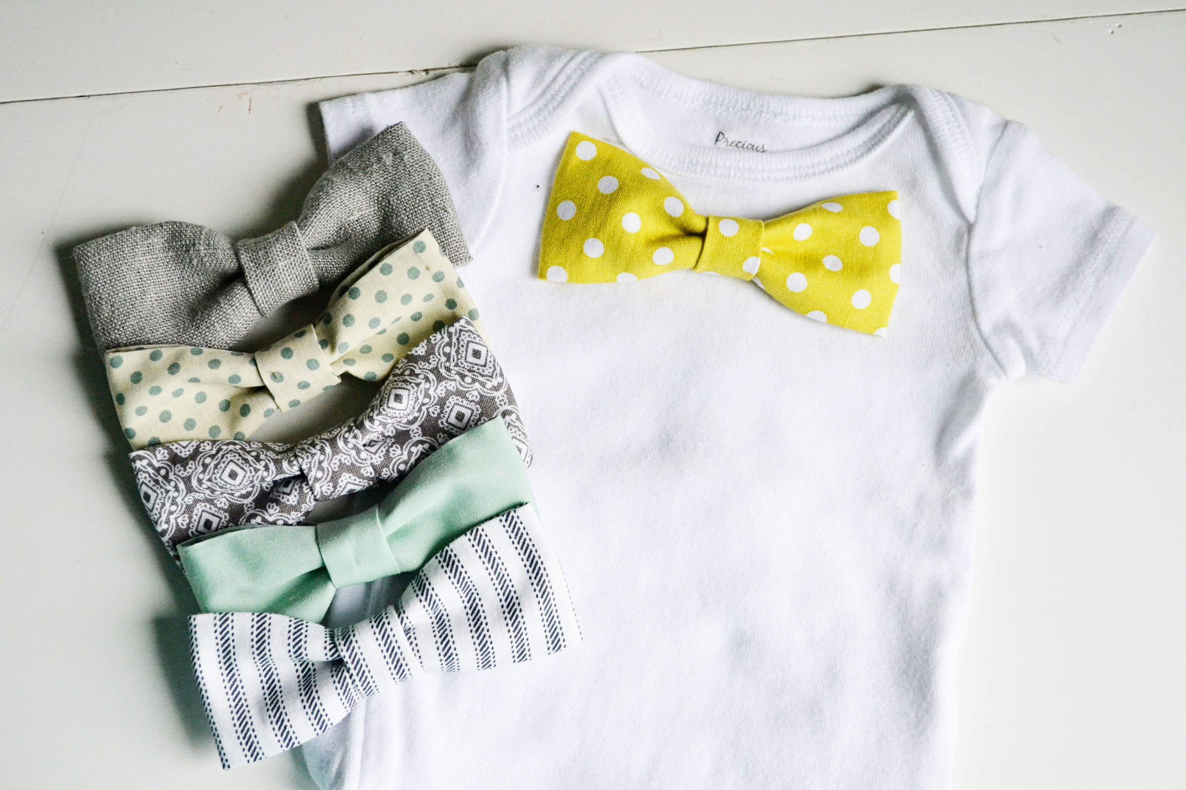 Best ideas about DIY Baby Bow Tie . Save or Pin bow tie onesie Now.