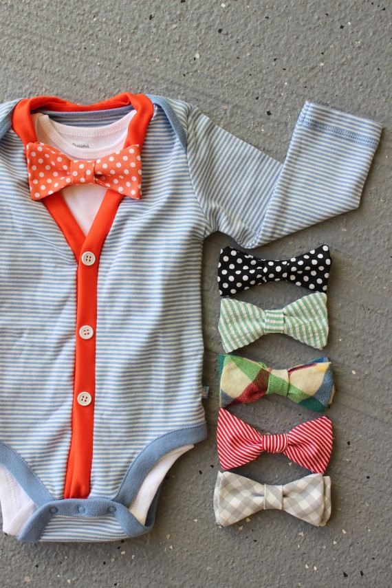 Best ideas about DIY Baby Bow Ties . Save or Pin 58 best images about Baby Boy Clothes DIY on Pinterest Now.