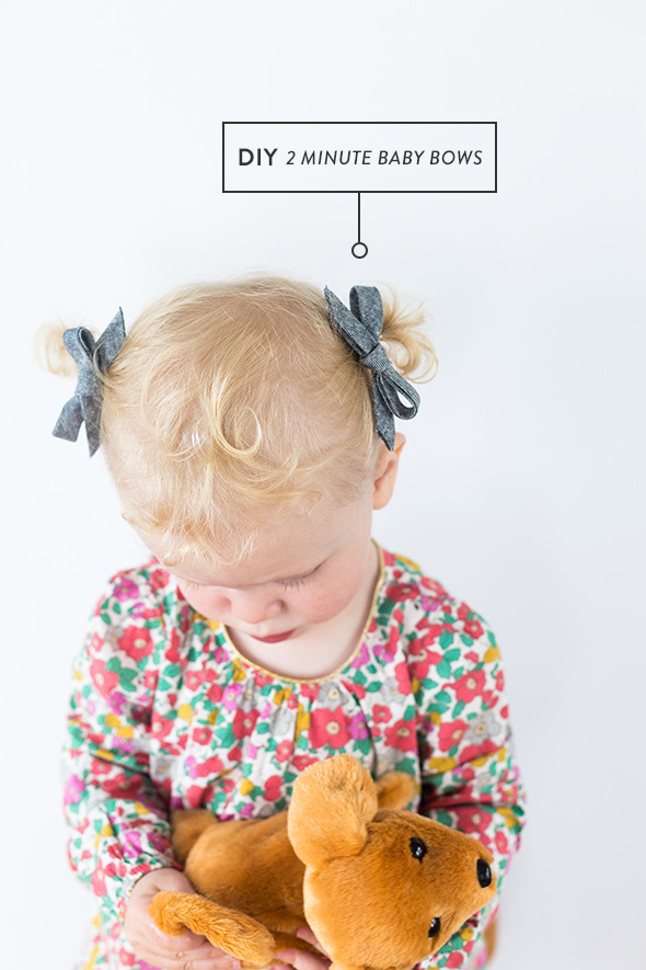 Best ideas about DIY Baby Bows . Save or Pin DIY No Sew Baby Bow from Bias Tape in 2 Minutes Say Yes Now.