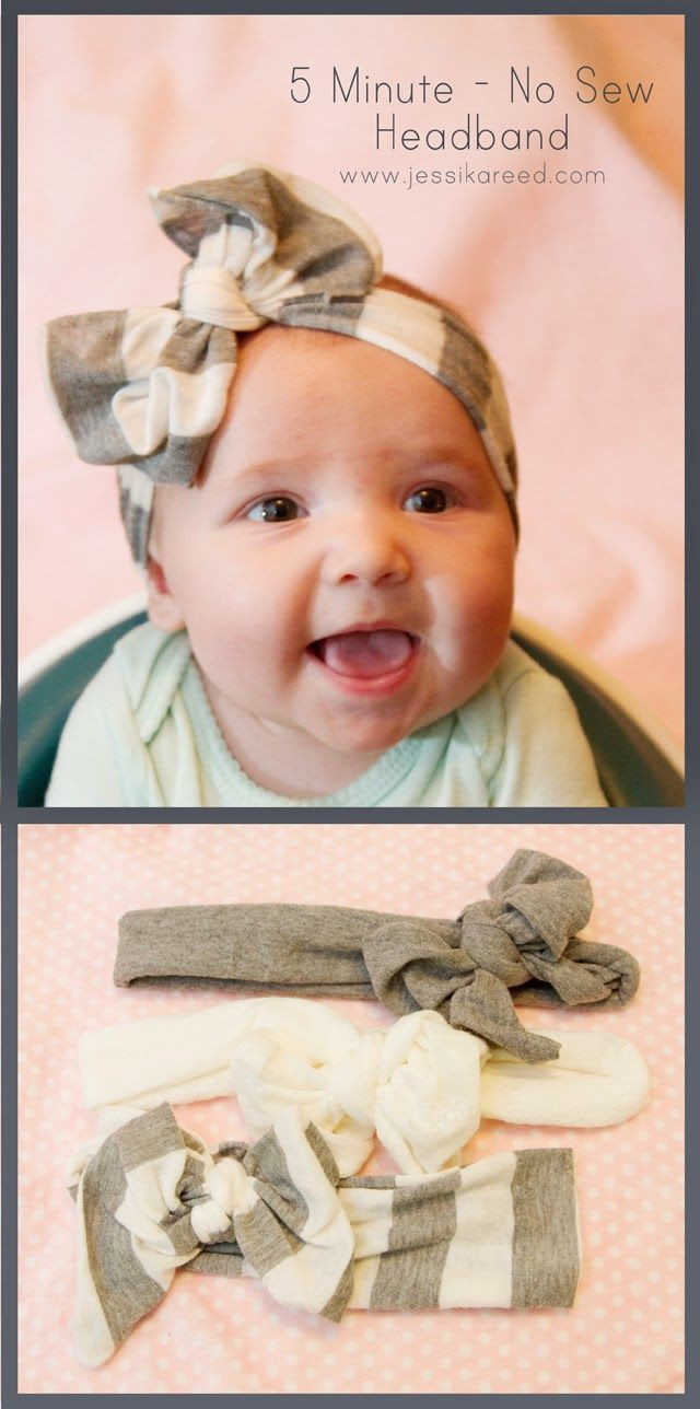 Best ideas about DIY Baby Bows . Save or Pin No Sew Bow Headband 40 Homemade No Sew DIY Baby and Now.