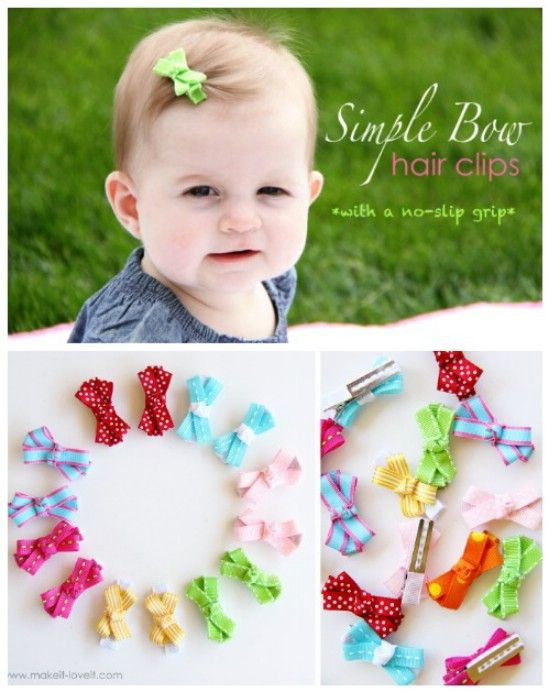 Best ideas about DIY Baby Bows . Save or Pin 25 best ideas about Easy hair bows on Pinterest Now.