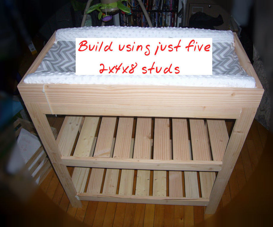 Best ideas about DIY Baby Changing Table . Save or Pin Baby Changing Table From Five 2x4x8 Studs 10 Now.