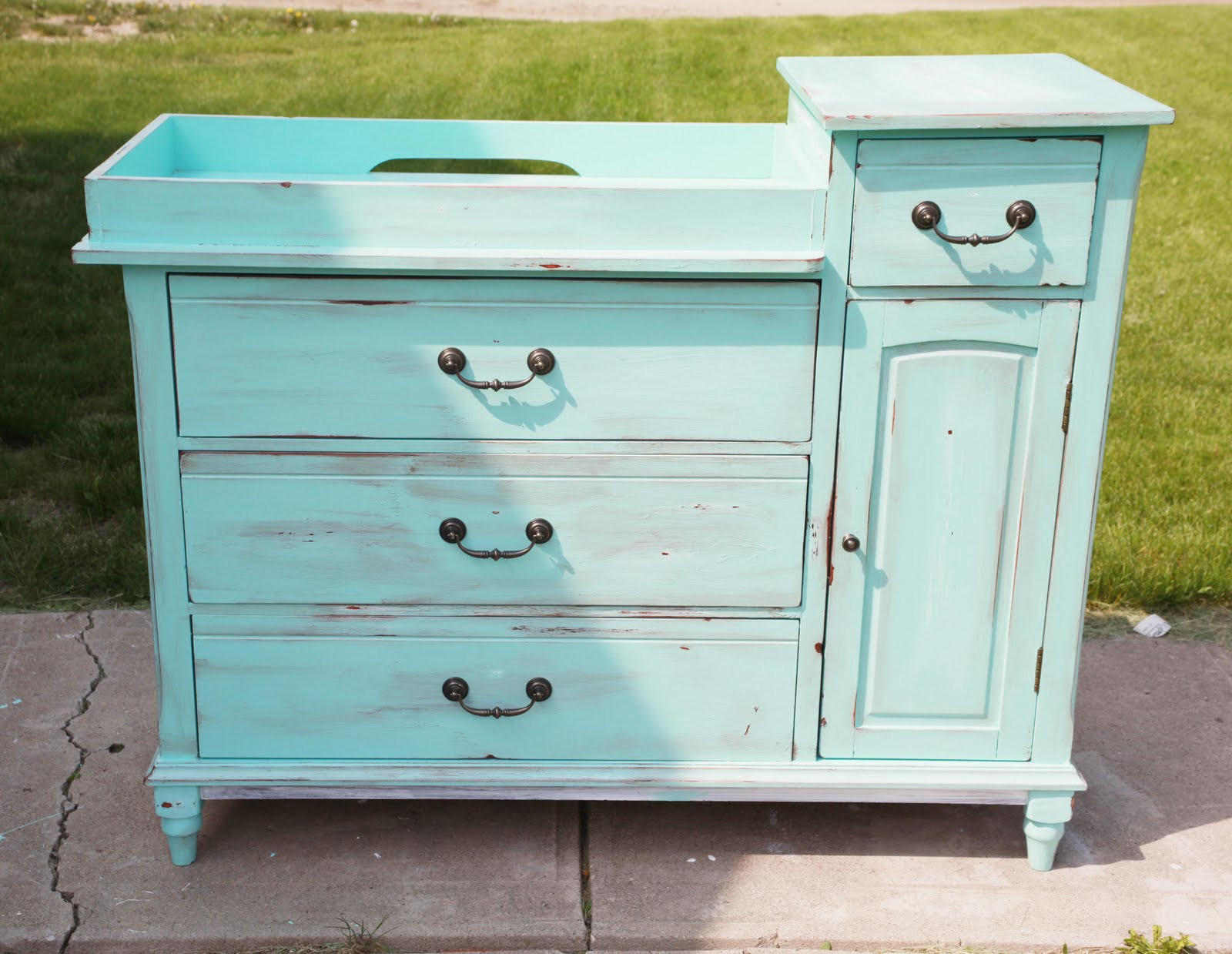 Best ideas about DIY Baby Changing Table . Save or Pin Achieving Proverbs 31 Baby Nursery Part III My Artsy Now.