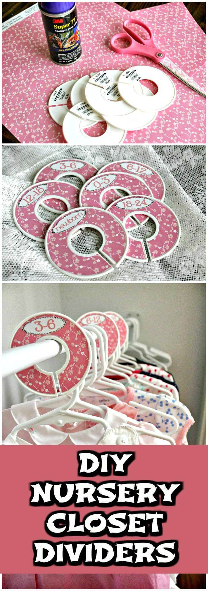 Best ideas about DIY Baby Closet Dividers . Save or Pin 20 Easy DIY Baby Closet Dividers To Organize Baby Clothes Now.