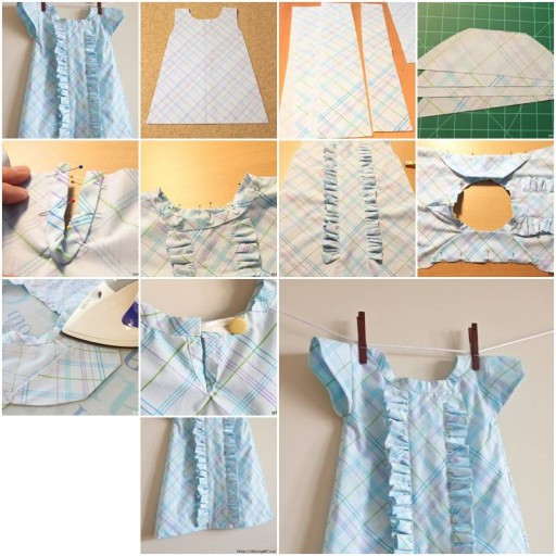 Best ideas about DIY Baby Clothing . Save or Pin How To sew Baby clothes with Ruffles step by step DIY Now.