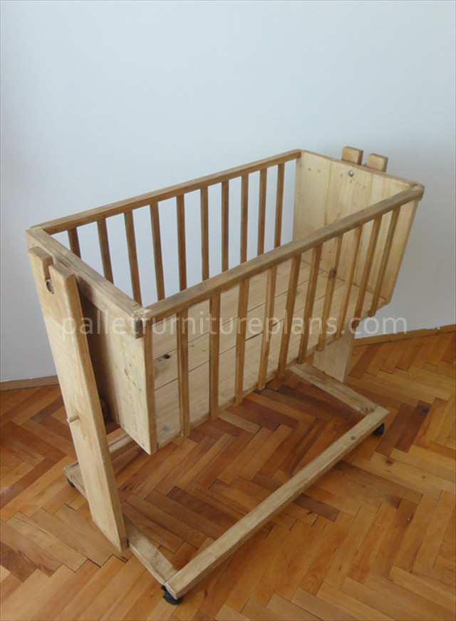 Best ideas about DIY Baby Cradle Plans . Save or Pin Wooden Pallet Cradle for Kids Now.