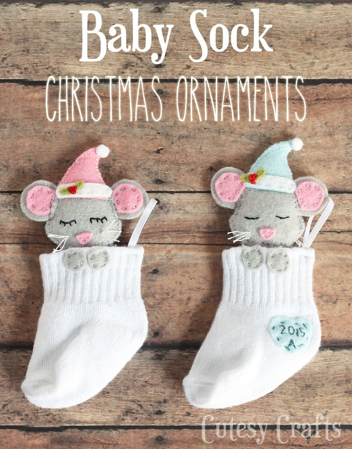 Best ideas about DIY Baby Crafts . Save or Pin Baby Sock DIY Christmas Ornaments Cutesy Crafts Now.