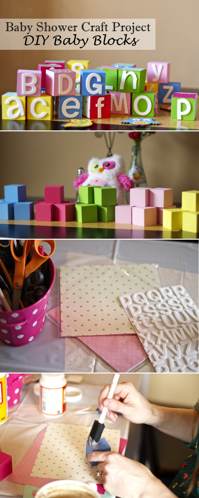 Best ideas about DIY Baby Crafts . Save or Pin Chasing Davies Baby Shower Craft Idea DIY Baby Blocks Now.