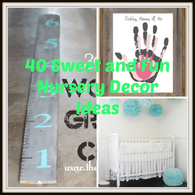 Best ideas about DIY Baby Crafts . Save or Pin 40 Sweet and Fun DIY Nursery Decor Design Ideas Now.