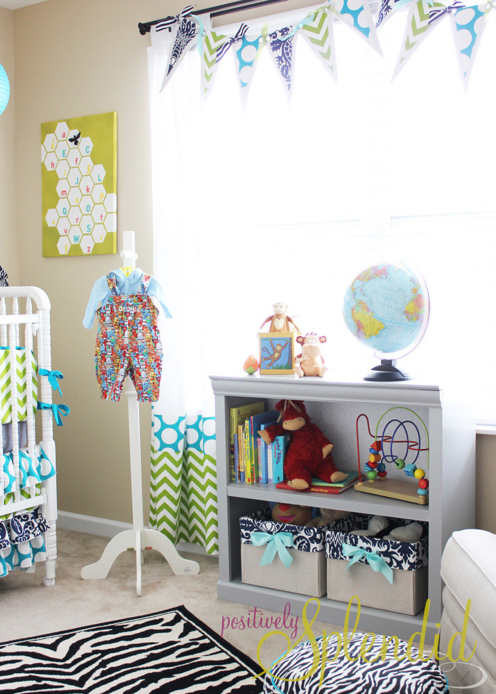 Best ideas about DIY Baby Decor . Save or Pin Baby Boy Nursery Tour Positively Splendid Crafts Now.