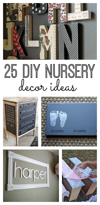 Best ideas about DIY Baby Decor . Save or Pin 25 DIY Nursery Decor Ideas Now.