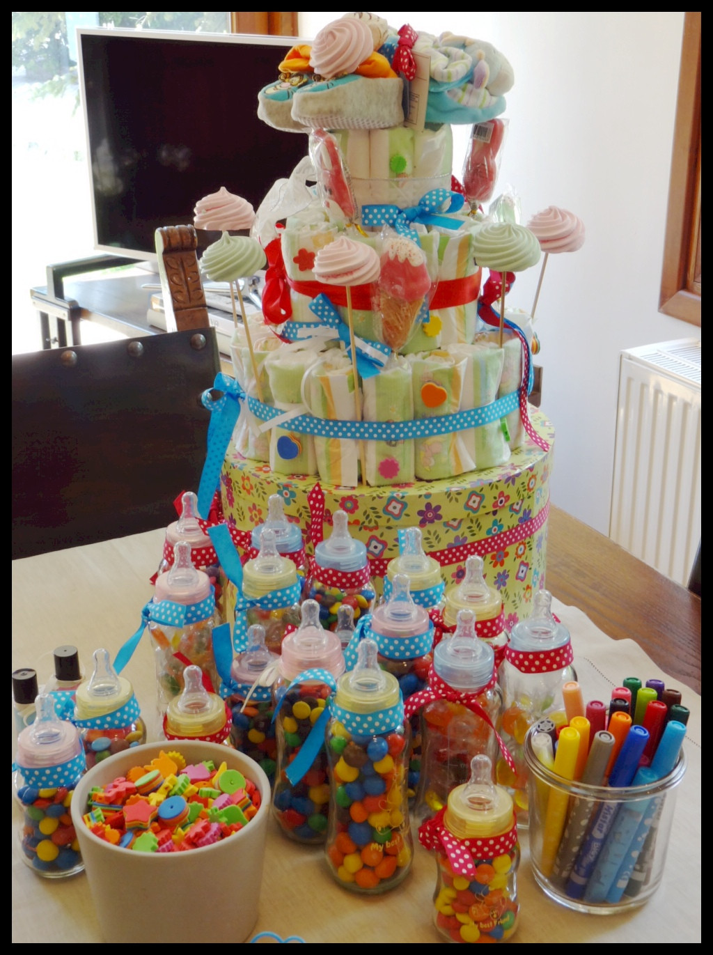 Best ideas about DIY Baby Diaper Cake . Save or Pin Do It Yourself Party Decorations – Diaper Cake – yoggi s way Now.