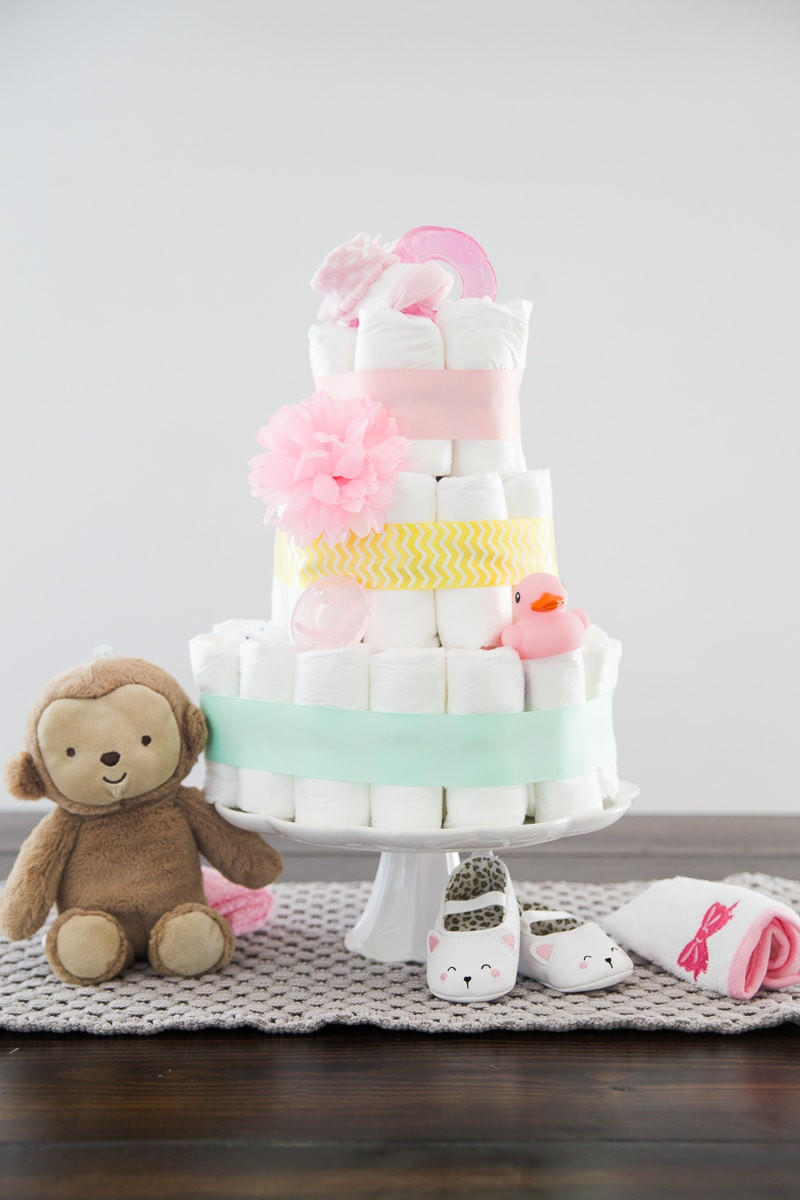 Best ideas about DIY Baby Diaper Cake . Save or Pin How to Make a Diaper Cake Now.