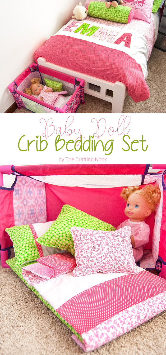 Best ideas about DIY Baby Doll . Save or Pin DIY Baby Doll Crib Bedding set Now.