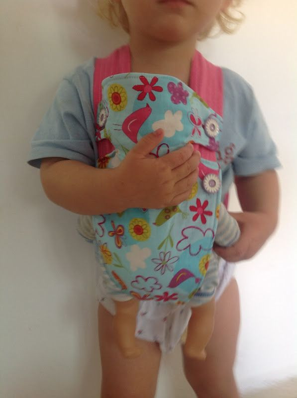 Best ideas about DIY Baby Doll Carrier . Save or Pin Little girls would love this Baby doll carrier tutorial Now.