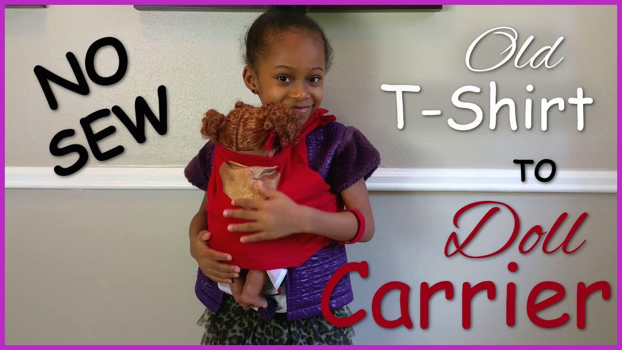 Best ideas about DIY Baby Doll Carrier . Save or Pin DIY Baby Alive Doll Carrier No Sew How To Now.