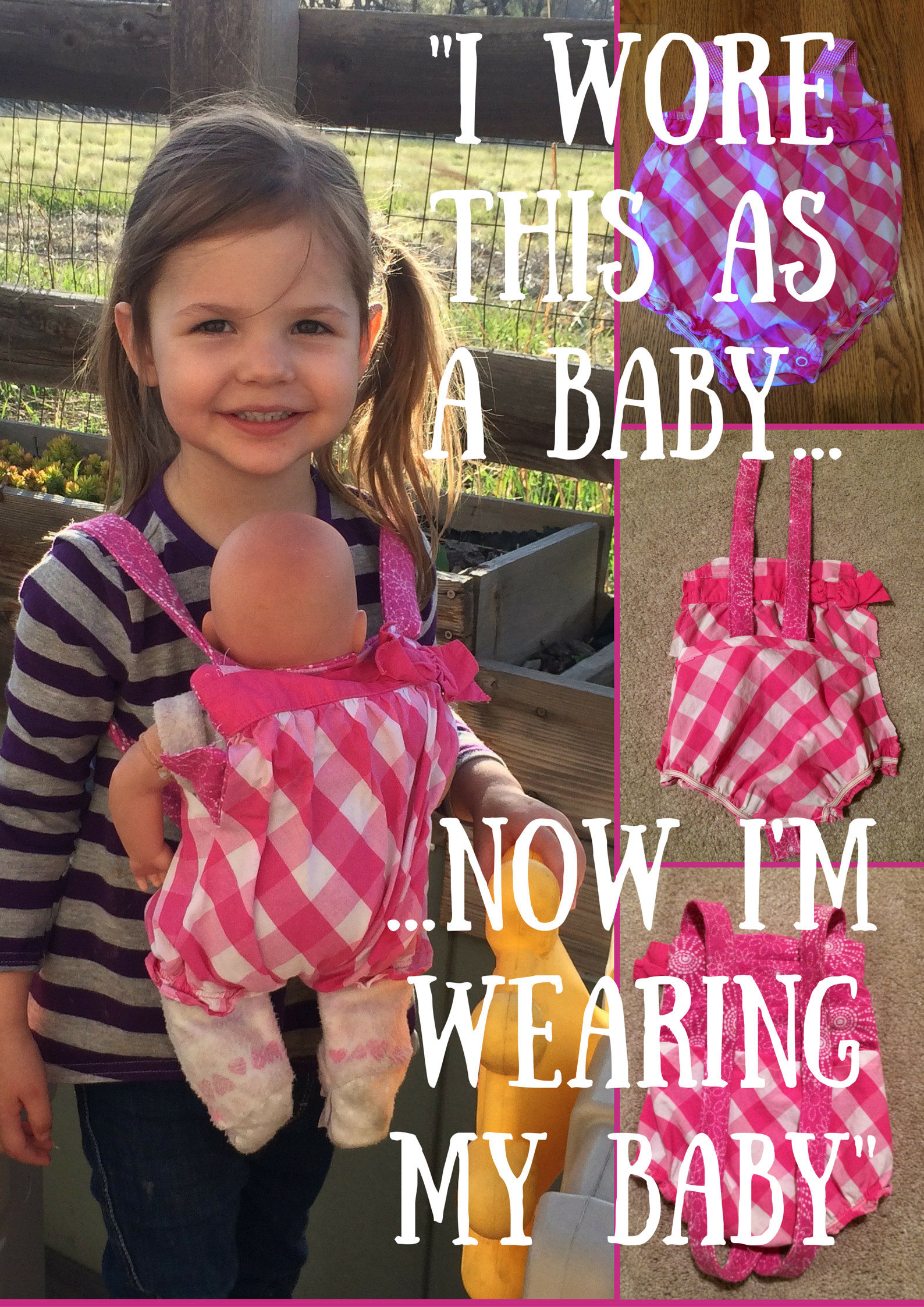 Best ideas about DIY Baby Doll Carrier . Save or Pin DIY Baby Doll Carrier Tutorial From Baby Jumper to Baby Now.