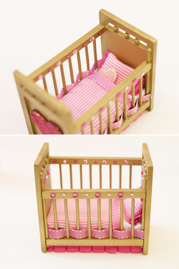Best ideas about DIY Baby Doll Crib . Save or Pin DIY Tutorial Embellished Doll Furniture Hostess with Now.