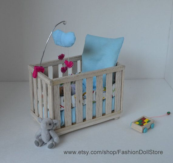 Best ideas about DIY Baby Doll Crib . Save or Pin Crib for doll nursery in 1 6 scale playscale Barbie Now.