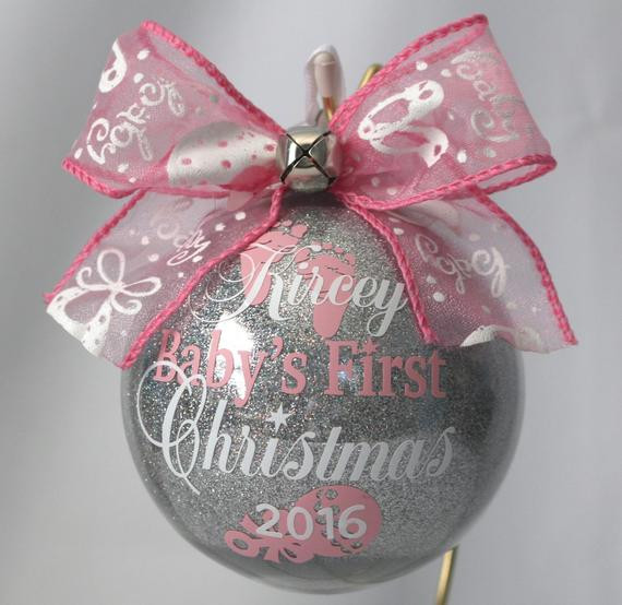 Best ideas about DIY Baby First Christmas Ornament . Save or Pin Baby s First Christmas Ornament personalized with any year Now.