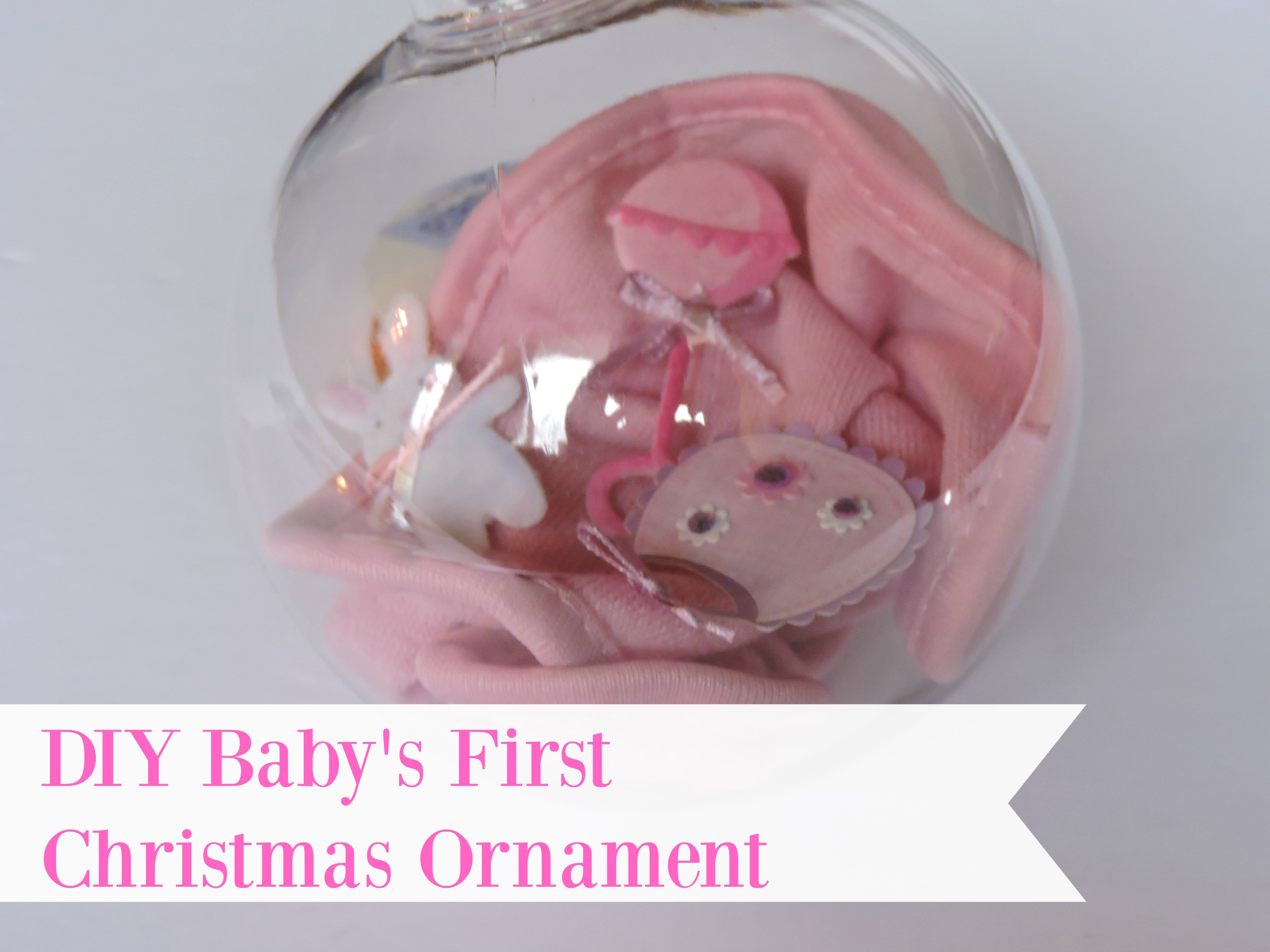 Best ideas about DIY Baby First Christmas Ornament . Save or Pin DIY Baby s First Christmas Ornament Now.