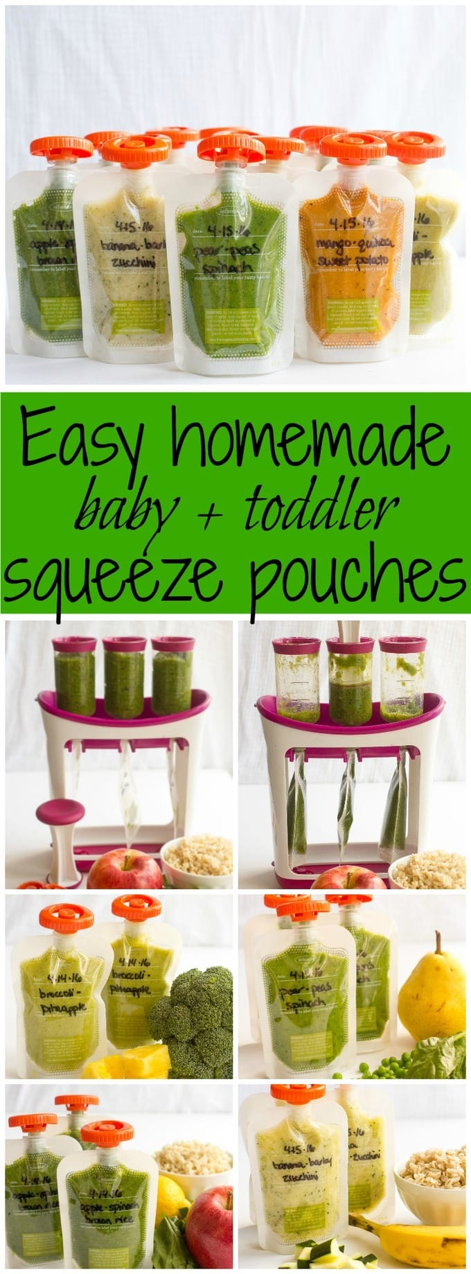 Best ideas about DIY Baby Food Pouch . Save or Pin Homemade baby food pouches how to and 5 recipes Family Now.