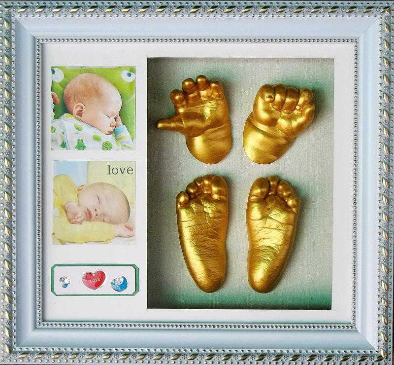 Best ideas about DIY Baby Footprints . Save or Pin GTE Creative DIY 3D Baby Hand Footprint Kit With Now.
