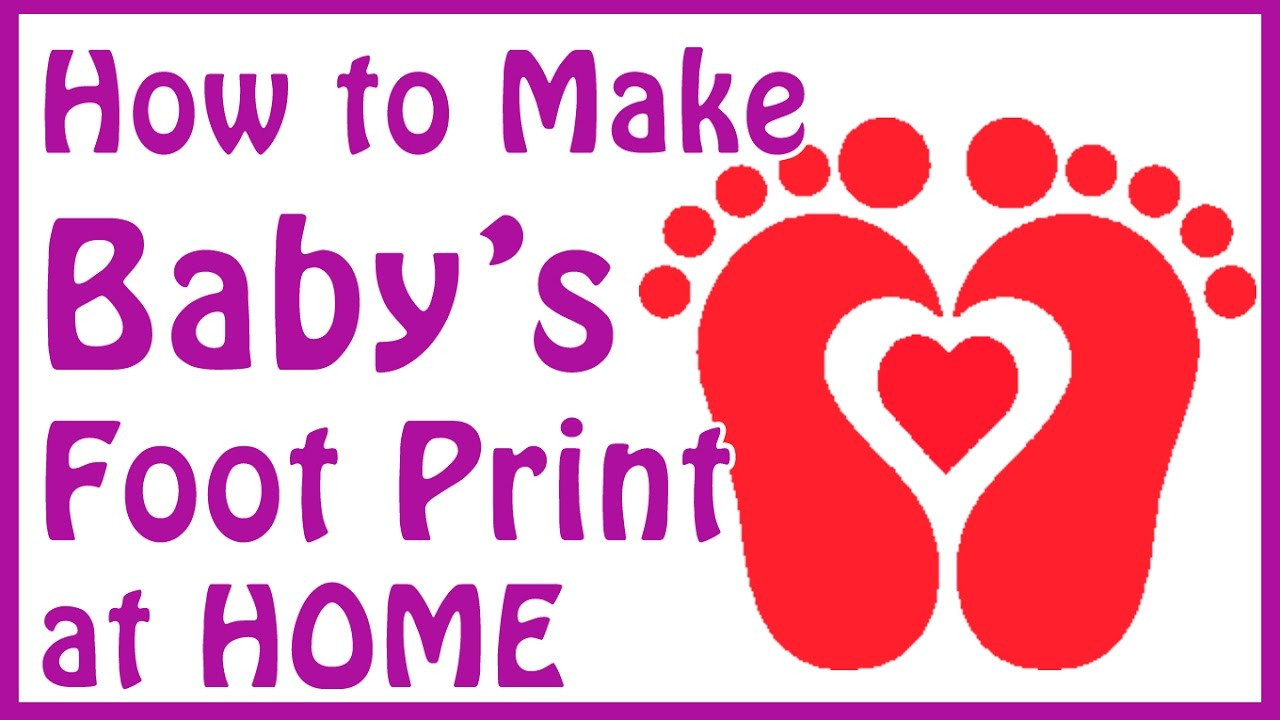 Best ideas about DIY Baby Footprints . Save or Pin DIY baby footprint ideas how to make baby footprints at Now.