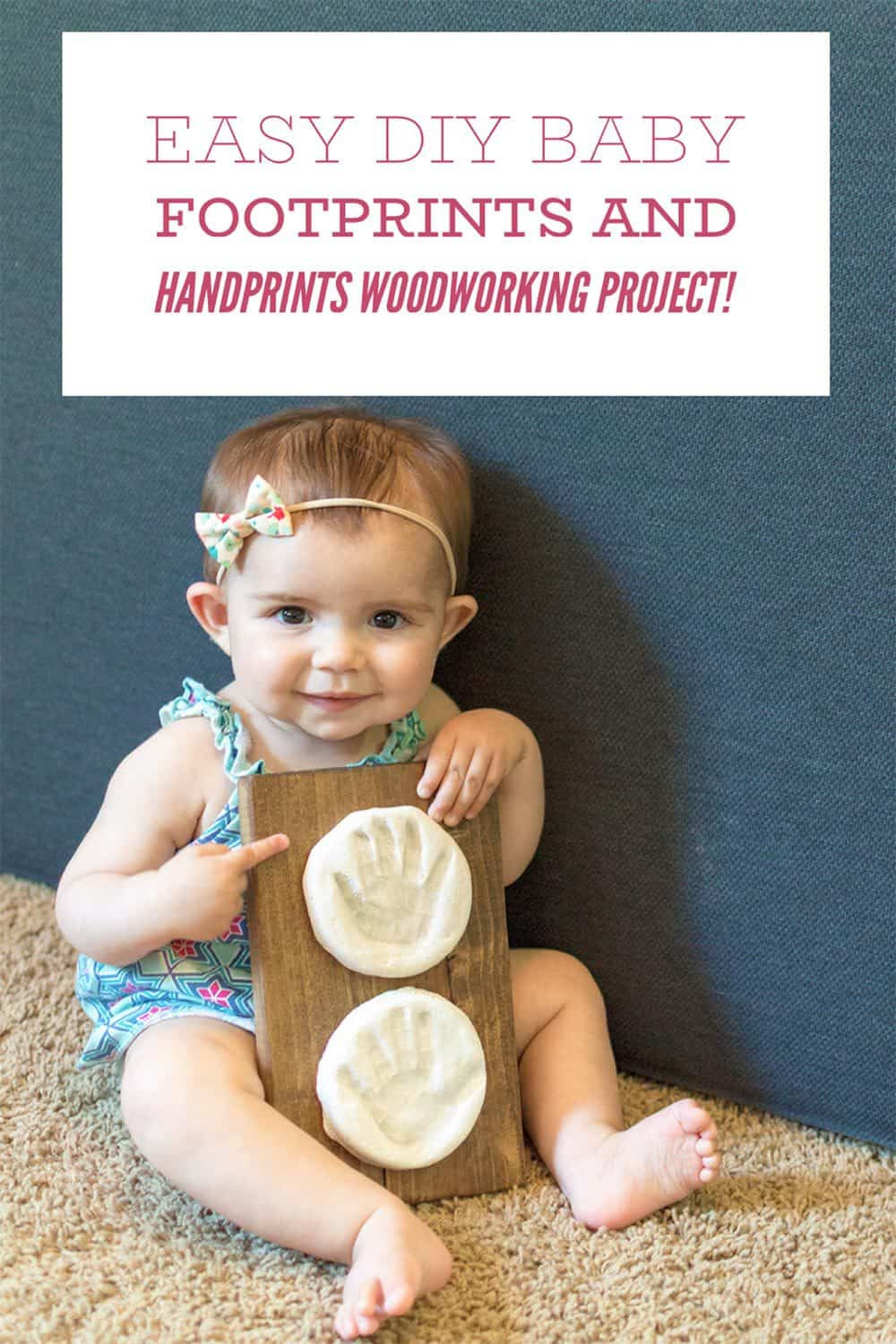 Best ideas about DIY Baby Footprints . Save or Pin Easy DIY Baby Footprints and Handprints Woodworking Project Now.