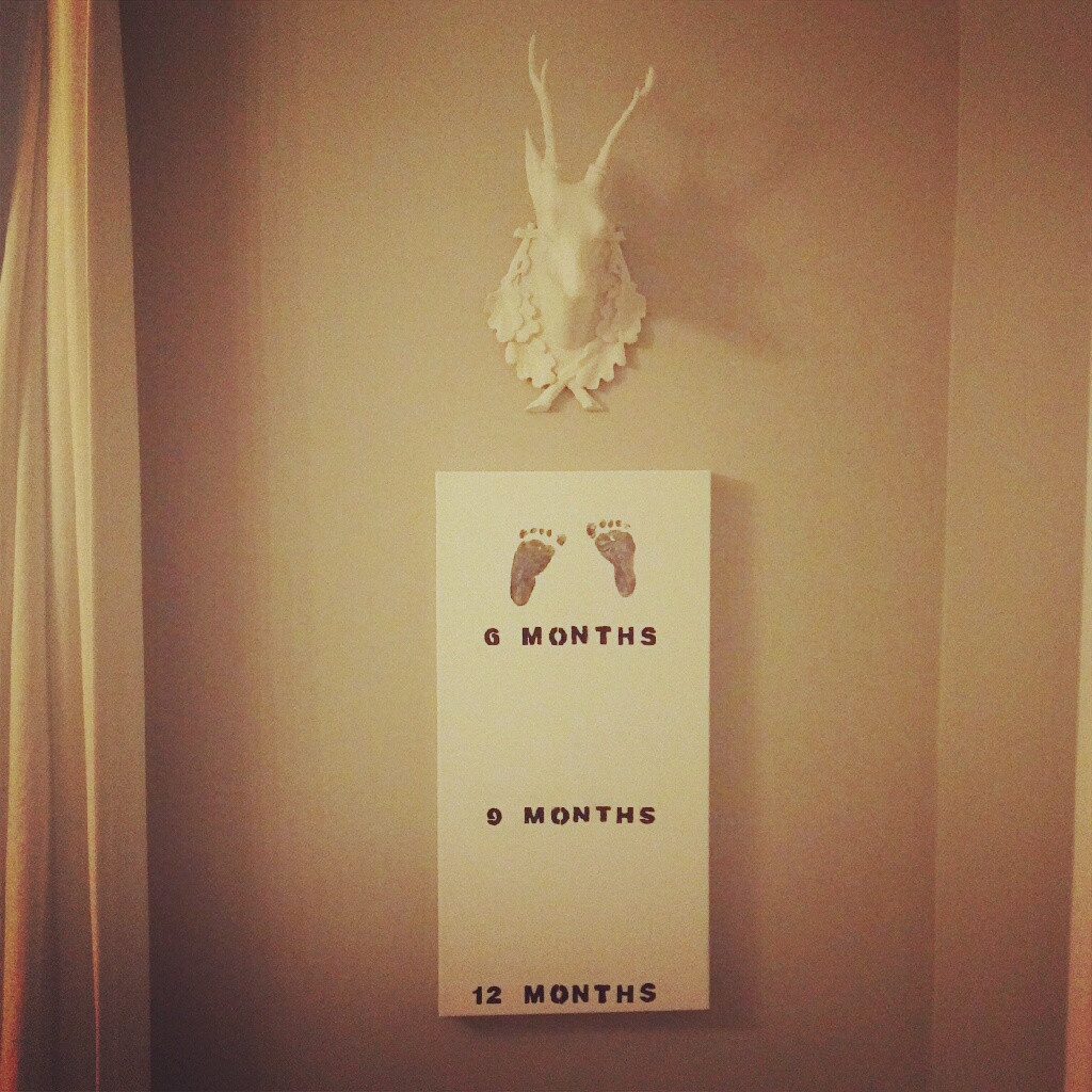Best ideas about DIY Baby Footprints . Save or Pin DIY Tiny Footprints Canvas Now.
