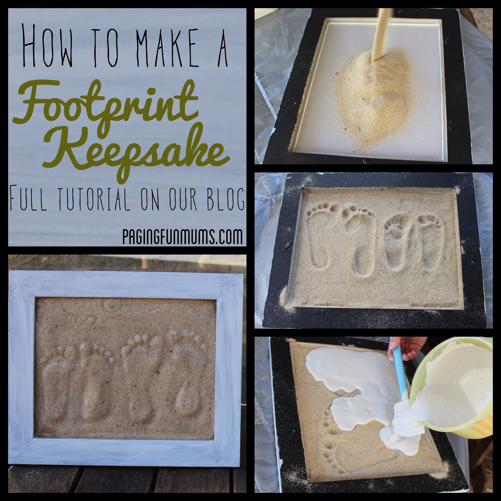 Best ideas about DIY Baby Footprints . Save or Pin Sand Footprint Craft Full DIY instructions Now.