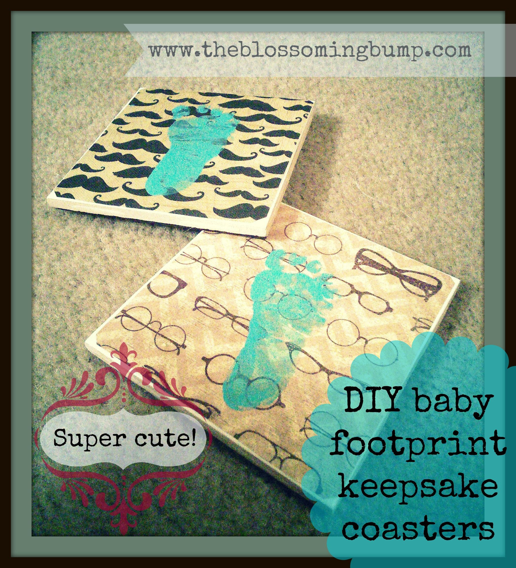 Best ideas about DIY Baby Footprints . Save or Pin Super cute DIY baby footprint keepsake coasters and other Now.