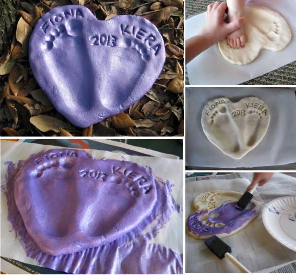 Best ideas about DIY Baby Footprints . Save or Pin 9 Cute DIY Footprint Keepsake Ideas and Tutorial Now.