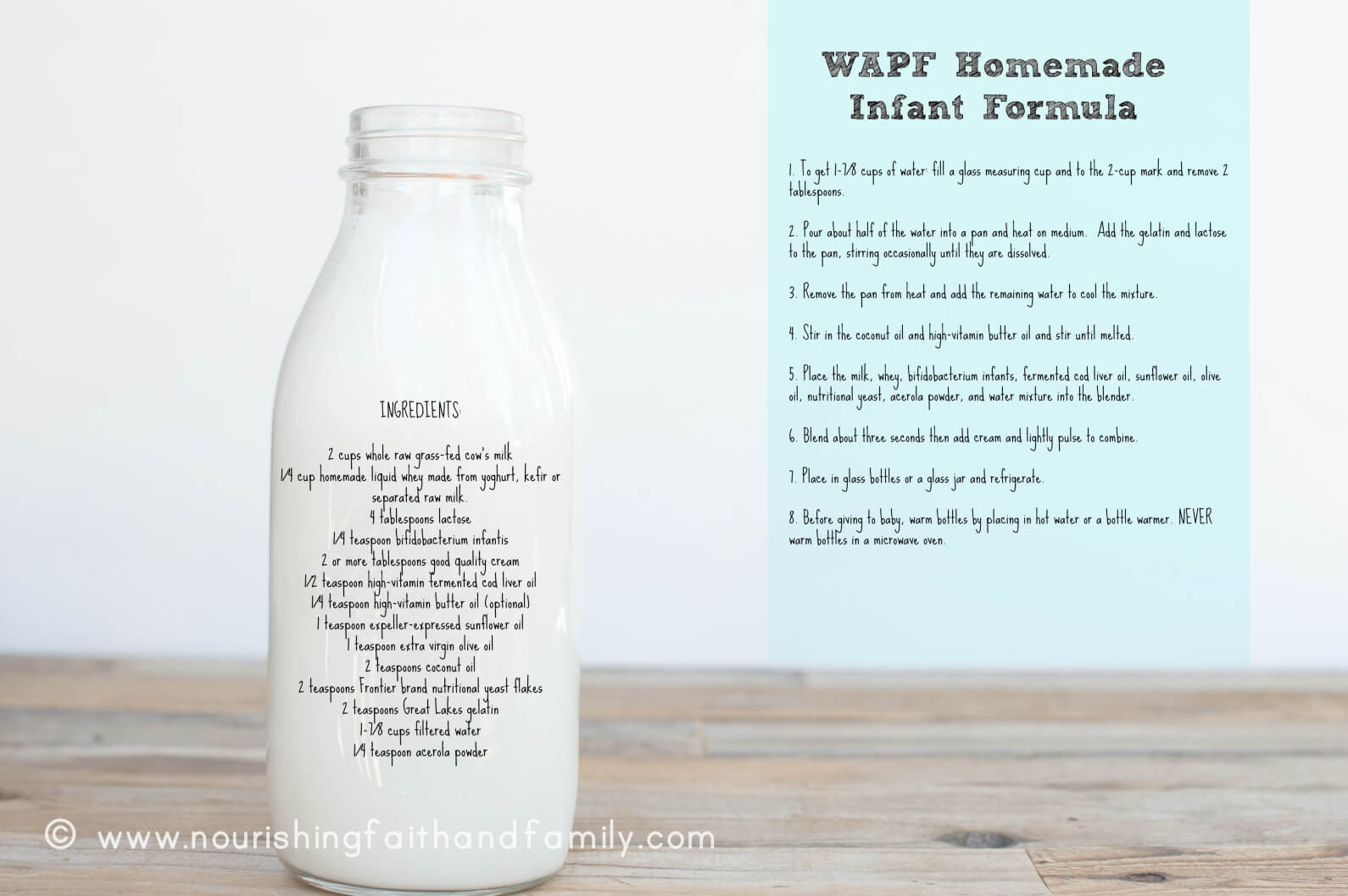 Best ideas about DIY Baby Formula . Save or Pin Homemade Infant Formula Weston A Price Foundation Recipe Now.