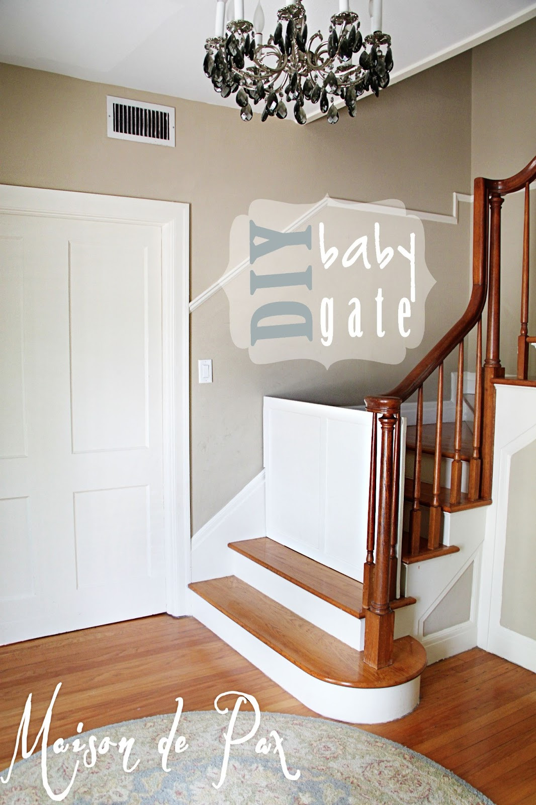 Best ideas about DIY Baby Gates . Save or Pin DIY Classy Baby Gate Maison de Pax Now.